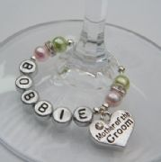 Mother Of The Groom Personalised Wine Glass Charm - Elegance Style